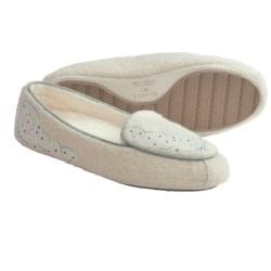 Acorn Giselle Moc Slippers - Boiled Wool (For Women) in Ivory