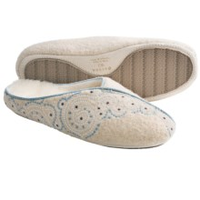 Acorn Giselle Mule Slippers - Boiled Wool (For Women) in Ivory - Closeouts