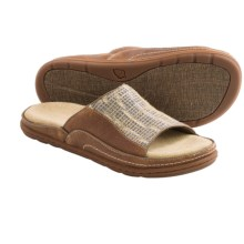 Acorn Hadly Sandals - Leather-Jute (For Women) in Indigo/Luggage - Closeouts