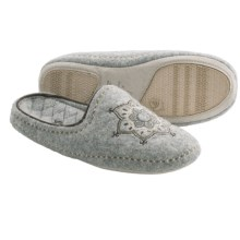 Acorn Henna Scuff Slippers - Boiled Wool (For Women) in Light Grey - Closeouts