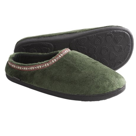 Acorn Highlander Slippers - Fleece-Lined (For Men) in Forest