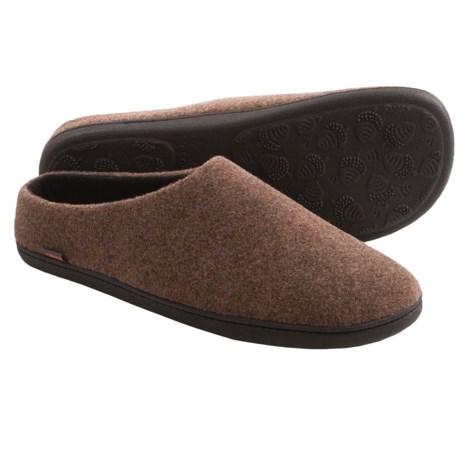 Acorn Highlander Slippers - Fleece-Lined (For Men) in Malt Heather