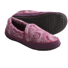 Acorn Joslyn Moc Slippers - Italian Wool Blend (For Women) in Mulberry - Closeouts