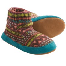 Acorn Kadabra Bootie Slippers - Fleece (For Girls) in Batik Brown - Closeouts