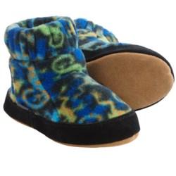 Acorn Kadabra Bootie Slippers - Fleece (For Girls) in Leaping Lizards