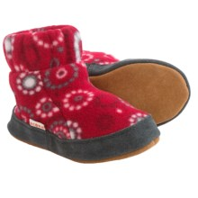 Acorn Kadabra Bootie Slippers - Fleece (For Girls) in Red Dots - Closeouts