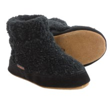 Acorn Kadabra Bootie Slippers - Fleece (For Little Kids) in Black Heather - Closeouts