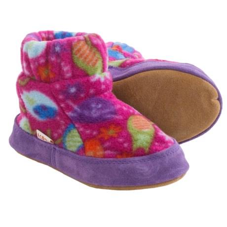 Acorn Kadabra Bootie Slippers - Fleece (For Little Kids) in Fat Cat Pink