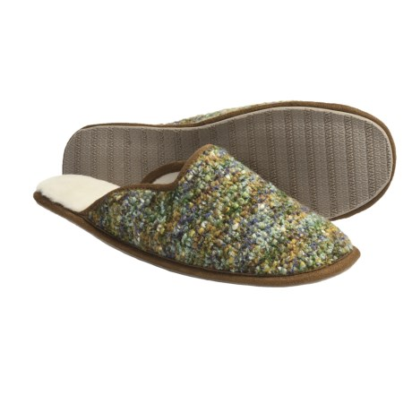 Acorn Kit Mule Slippers (For Women) in Safari