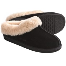 Acorn Klogs Slippers - Sheepskin (For Women) in Black