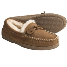 Acorn Lo Moc Slippers - Sheepskin (For Men) in Walnut - Closeouts