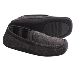Acorn Loafer Slippers - Wool Blend (For Men) in Slate Knit
