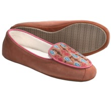 Acorn Mara Moc Slippers - Nubuck (For Women) in Coral - Closeouts