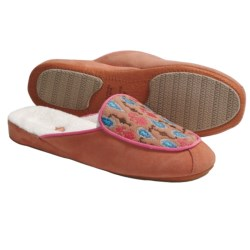 Acorn Mara Scuff Slippers - Nubuck (For Women) in Coral