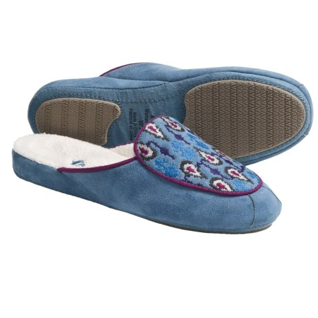 Acorn Mara Scuff Slippers - Nubuck (For Women) in Ocean