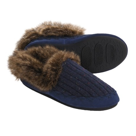 Acorn Merino Marvel Shoes - Slippers, Wool Blend (For Women) in Arctic