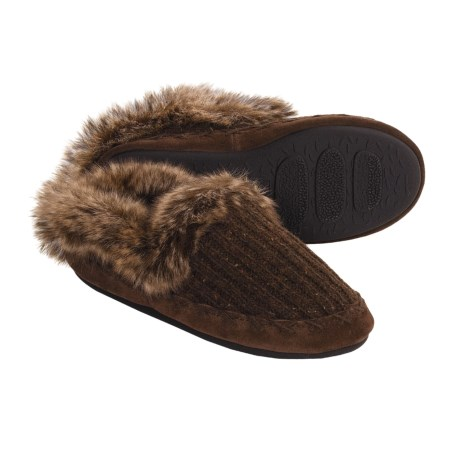 Acorn Merino Marvel Shoes - Slippers, Wool Blend (For Women) in Coffee Bean