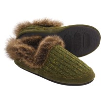 Acorn Merino Marvel Shoes - Slippers, Wool Blend (For Women) in Moss - Closeouts