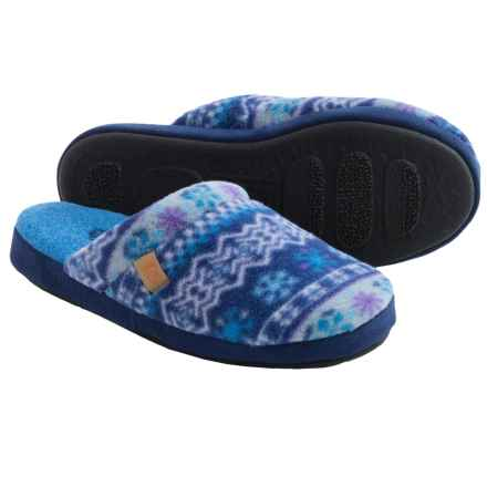 Acorn Microfleece Scuff Slippers (For Women) in Icelandic Blue - Closeouts