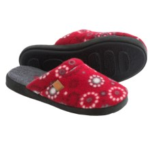 Acorn Microfleece Scuff Slippers (For Women) in Red Dots - Closeouts