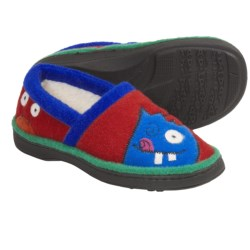 Acorn Monster Moc Slippers (For Boys) in Red