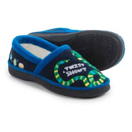 Acorn Monster Moc Slippers (For Kids) in Snake - Closeouts