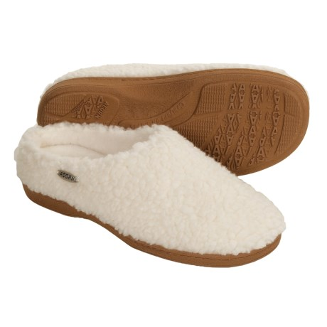 Acorn Nex Tex Clog Slippers (For Women) in Buff Popcorn
