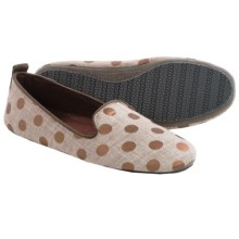 Acorn Novella Slippers - Cotton (For Women) in Copper Dots - Closeouts