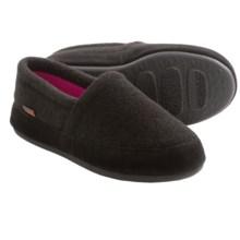 Acorn Plush Moc Slippers - Fleece (For Women) in Black - Closeouts