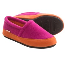 Acorn Plush Moc Slippers - Fleece (For Women) in Fuschia - Closeouts