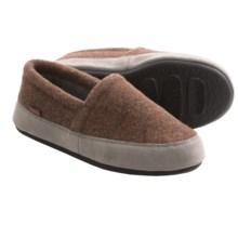 Acorn Plush Moc Slippers - Fleece (For Women) in Malt Heather - Closeouts