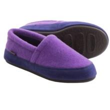 Acorn Plush Moc Slippers - Fleece (For Women) in Purple - Closeouts