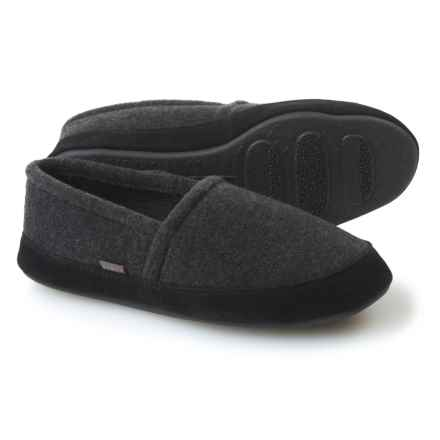 Acorn Plush Moccasin Slippers - Suede (For Men) in Charcoal Heather - Closeouts