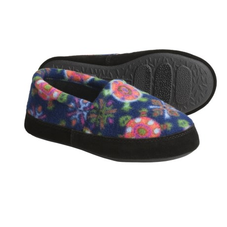 Acorn Polar Fleece Moc Slippers (For Kids) in Turtle Love Sea Blue