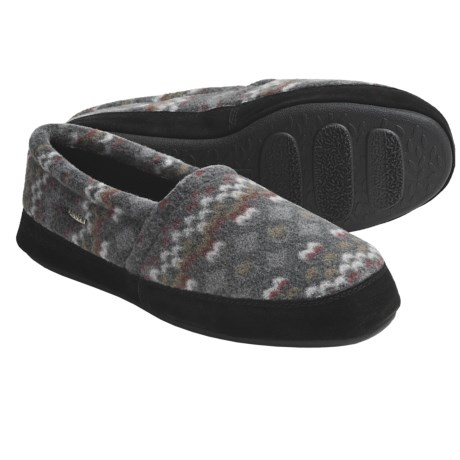 Acorn Polar Moc II Slippers (For Men) in Charcoal Multi
