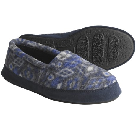 Acorn Polar Moc II Slippers (For Men) in Navy