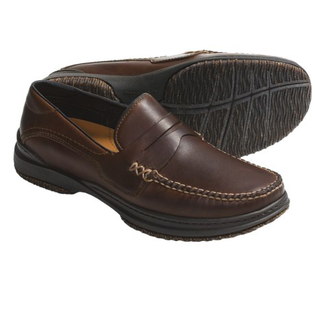 Acorn Proud Penny Shoes - Handsewn Leather (For Men) in Burnt Umber