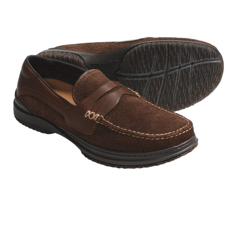 Acorn Proud Penny Shoes - Handsewn Leather (For Men) in Java Suede