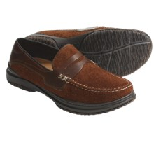 Acorn Proud Penny Shoes - Handsewn Leather (For Men) in Sienna Suede - Closeouts