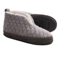 Acorn Quilted Bootie Slippers - Boiled Wool (For Women) in Navy