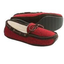 Acorn Ragg Time Moc Slippers - Ragg Wool-Blend (For Women) in Red Ragg Wool - Closeouts