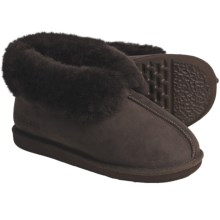 Acorn Ram Island Slippers - Sheepskin (For Men) in Chocolate - Closeouts