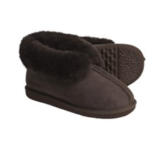 Acorn Ram Island Slippers - Sheepskin (For Women) in Chocolate - Closeouts
