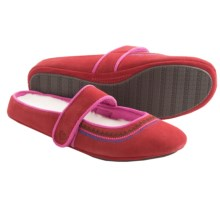 Acorn Reva Mary Jane Slippers - Nubuck (For Women) in Scarlet - Closeouts