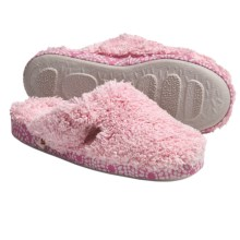 Acorn Shaggy Spa Mule II Slippers (For Women) in Petal Pink W/Carnation - Closeouts