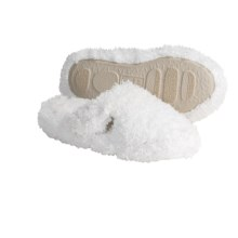 Acorn Shaggy Spa Scuff Slippers (For Women) in White - Closeouts