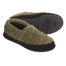Acorn Shaggy Tex Moc Slippers (For Women) in Olive - Closeouts