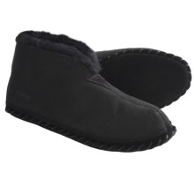 Acorn Sheep Bootie Slippers - Sheepskin (For Men) in Black - Closeouts