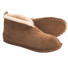 Acorn Sheep Bootie Slippers - Sheepskin (For Men) in Chestnut - Closeouts