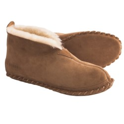 Acorn Sheep Bootie Slippers - Sheepskin (For Men) in Chocolate